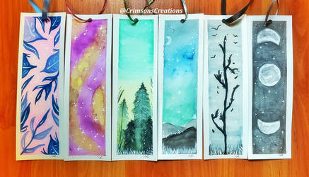 Watercolor Bookmarks 9 by CrimsonsCreations