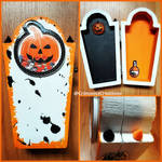 Spiked Pumpkin Spice Coffin Box by CrimsonsCreations