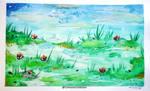 Watercolor Bog by CrimsonsCreations