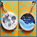 Moon Christmas Ornament by CrimsonsCreations