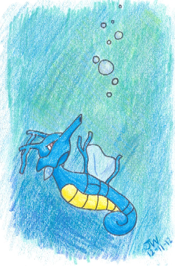 Kingdra Traditional by Drabble-Monster