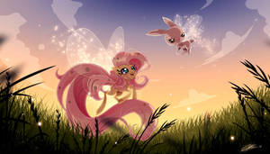 Fluttershy love being a breezie