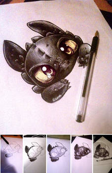 Toothless watching you