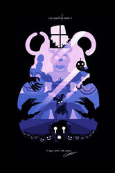 POSTER - Five nights at Freddy's 4 (PURPLE) by CKibe