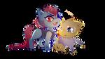 Undyne and Alphys  Cat version