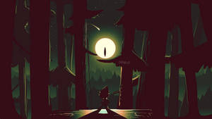 Gravity Falls Dipper and Bill Cipher scene (4) by CKibe