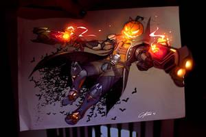 Pumpkin reaper Fanart by CKibe