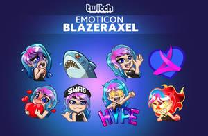 Twitch emoticon - Blazeraxel by CKibe
