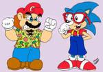 Captain Mario and SonUrkel C