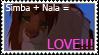 Simba and Nala Stamp by XGlowyBlueWolfX
