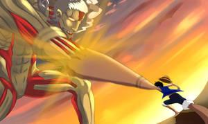 Armor Titan vs Luffy