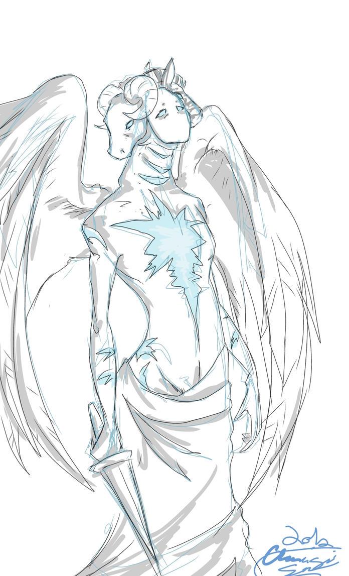 True Form Castiel by Onigami-Sama