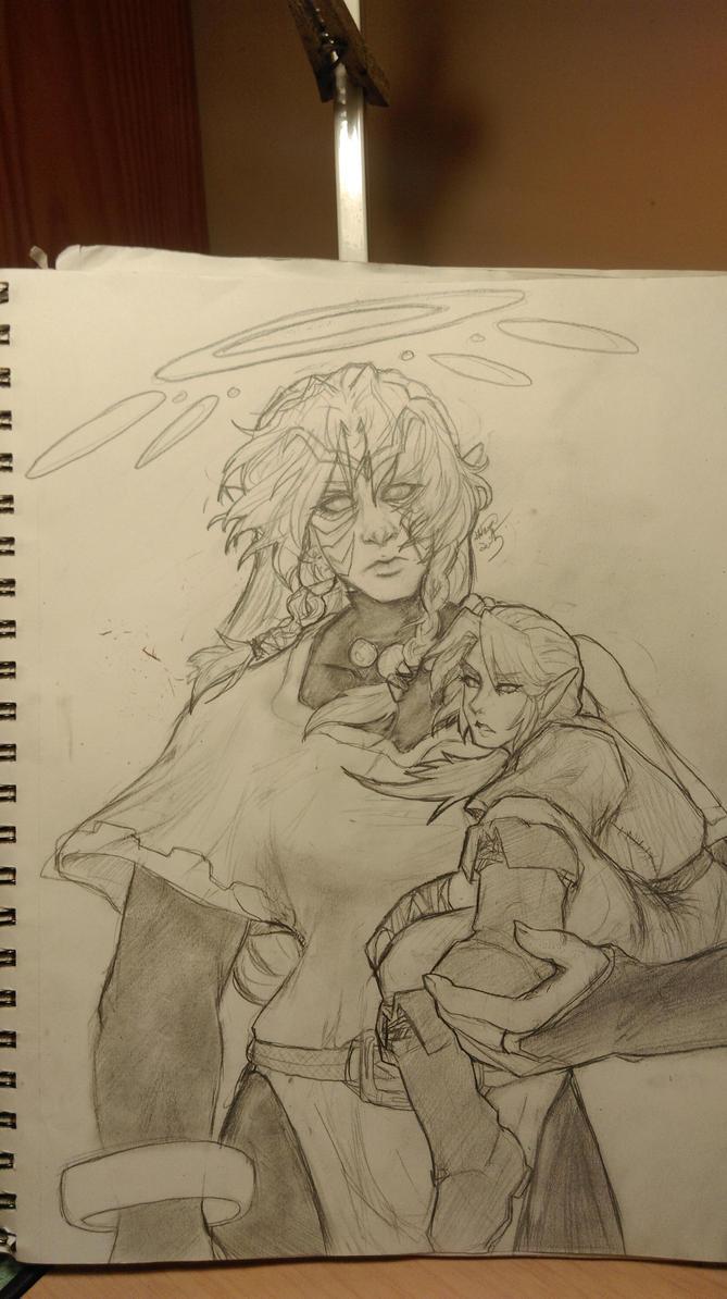 Fierce Deity and Link by Onigami-Sama