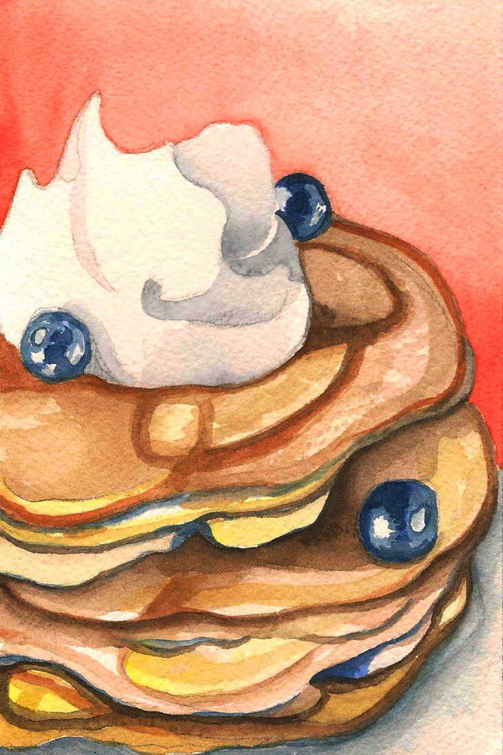 Study of Blueberry Pancakes by emmettpellerin