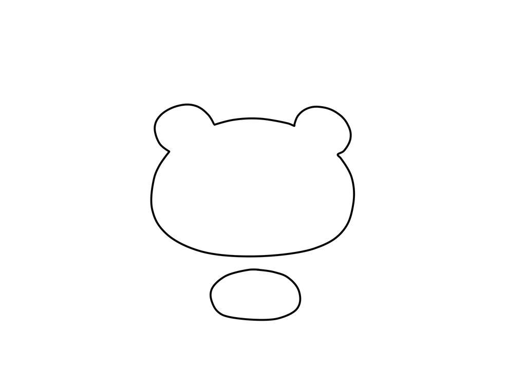 Bear Head Template Gloomy bear plush template by