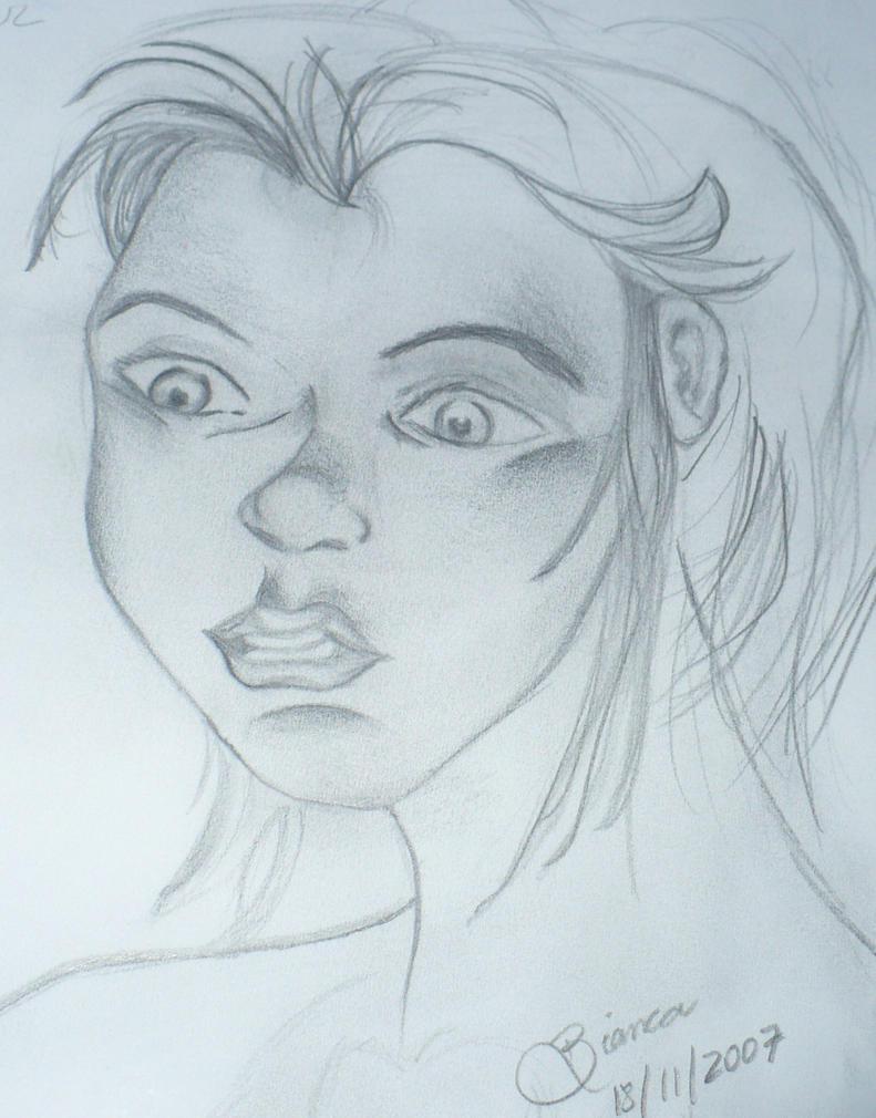 Scared girl face by biapfreitas on deviantART