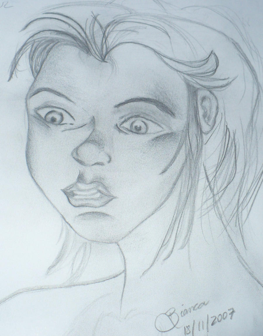 Scared Face Line Drawing : Scared girl face by biapfreitas on deviantart