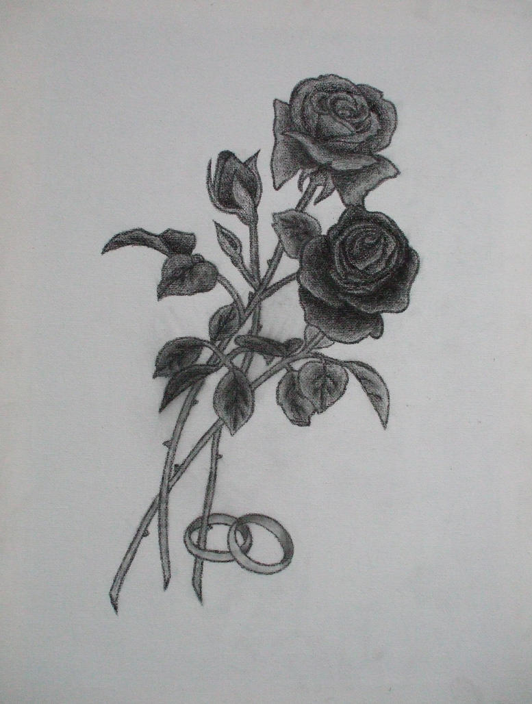 It's just a graphic of Gratifying Charcoal Rose Drawing