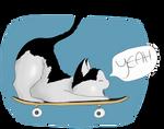 Skateboard fun by Clairey-kun