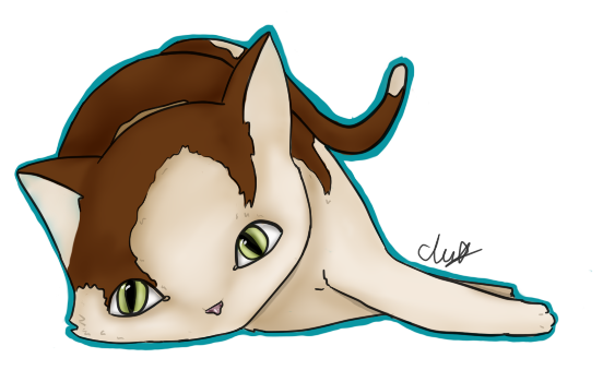 Lazy Cat by Clairey-kun