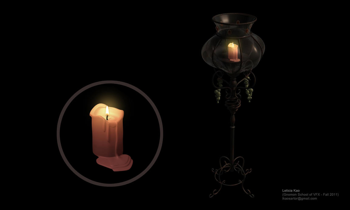 Candle and candle holder by leticiakao