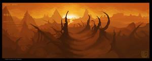 Color Study 3 - Alien Landscape_John Radwanski