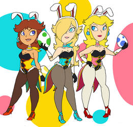 Easter Bunny Princesses by that-one-guy-again