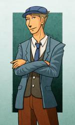 Allow Me - Professor Layton by einmonim