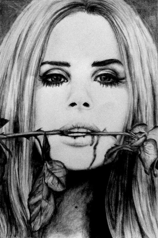 Lana Del Rey drawing by joksie on DeviantArt