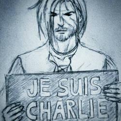 #jesuischarlie #charliehebdo by Mirowshka