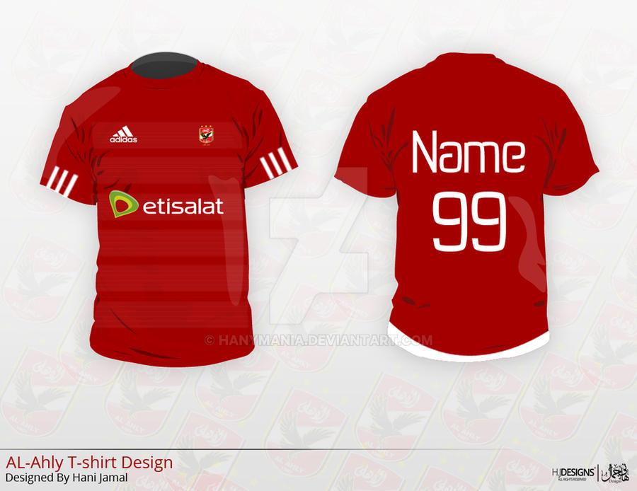 Al ahly t shirt design by hanymania on deviantart for T shirt printing mobile al