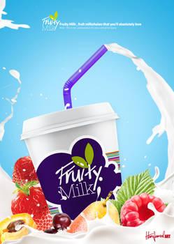 Fruity Milk Juice Ad.