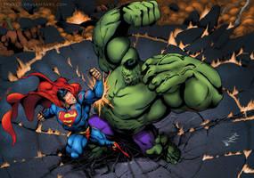 SuperMan Vs Hulk Colab by fkaleo