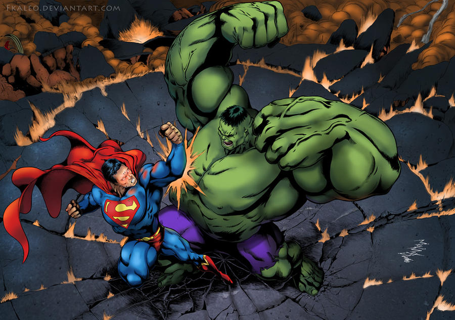 Hulk vs. Superman. The epic showdown.