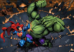 SuperMan Vs Hulk Colab by fkaleo