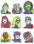 avengers sketch card