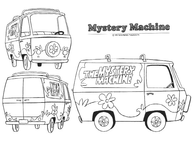Mystery machine 1 by alanschell on deviantart for Scooby doo mystery machine coloring pages