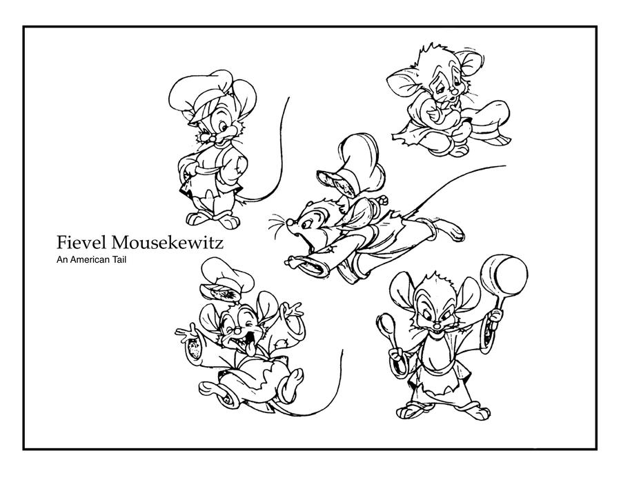 fievel coloring pages - photo#4
