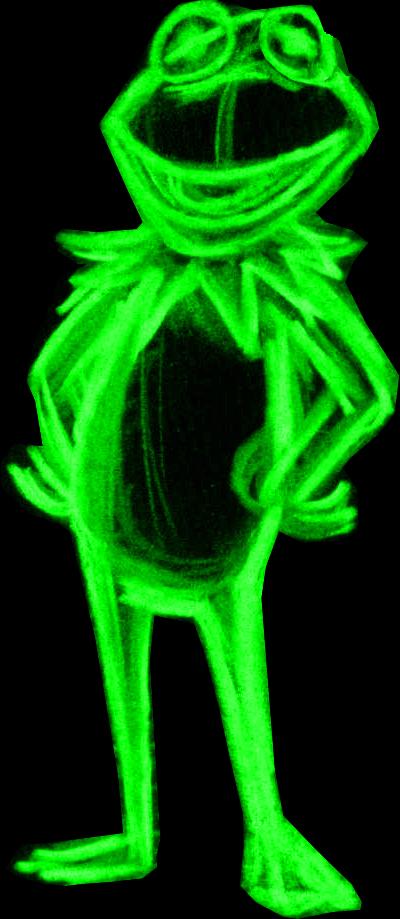 neon kermit by AlanSchell