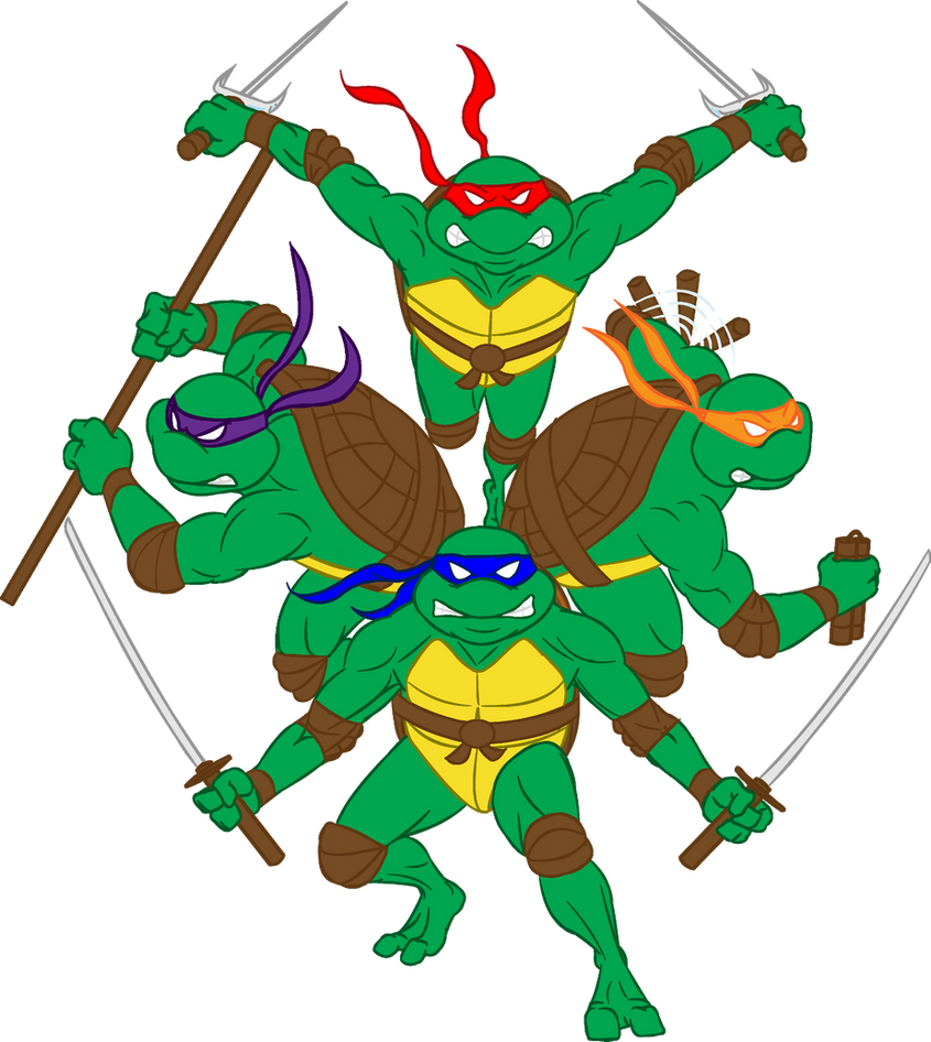 tmnt color by alanschell on deviantart