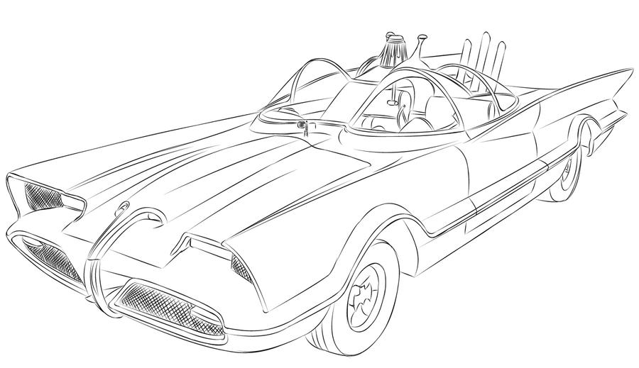 bat mobile coloring book pages - photo#23
