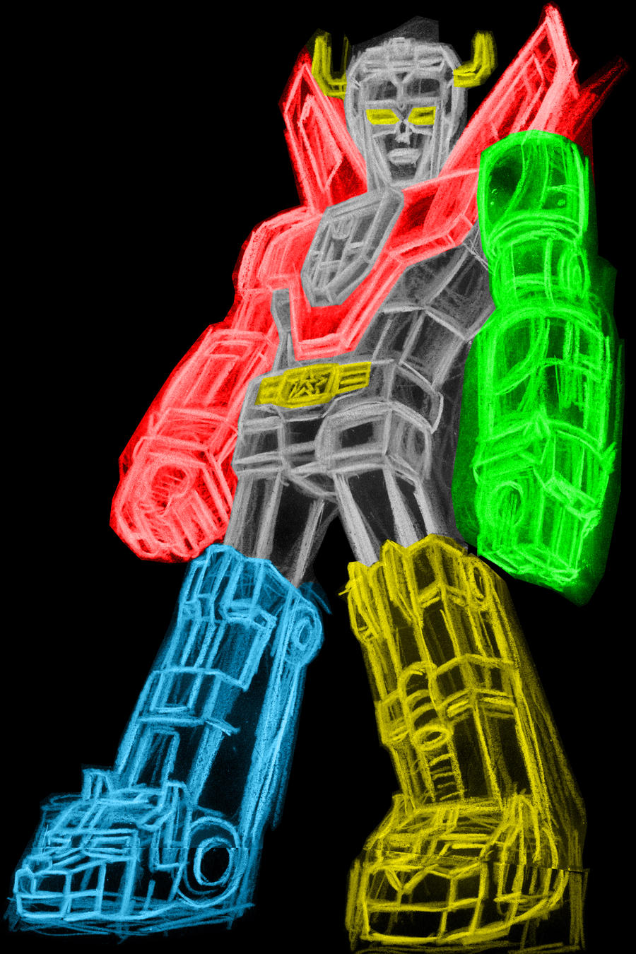 voltron neon by alanschell on deviantart