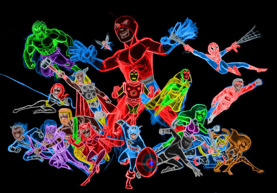 avengers neon update by AlanSchell