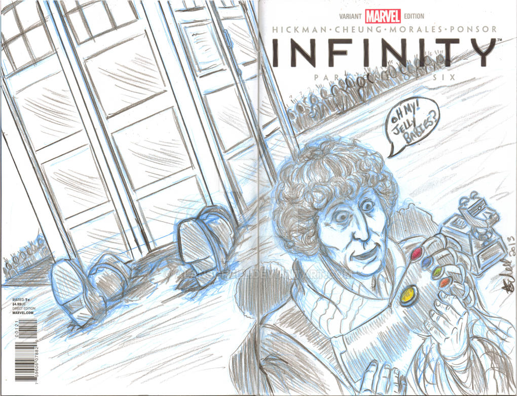 4th doctor infinity sketch cover by AlanSchell