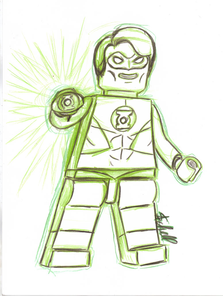 Lego Green Lantern by AlanSchell