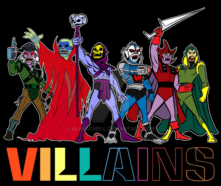 Filmation Villains by AlanSchell