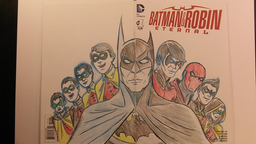 Batman and Robin Eternal Sketchcover by AlanSchell