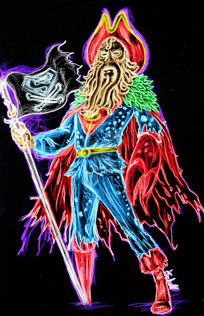 Davy Jones Superman neon by AlanSchell