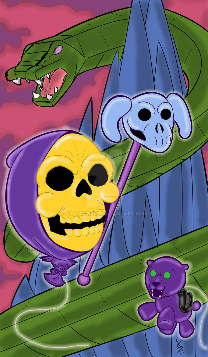 Skeletor Balloon by AlanSchell