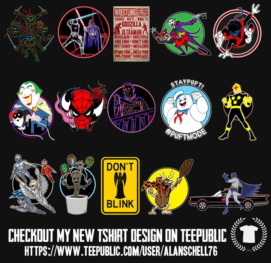 Teepublic tshirt designs by AlanSchell